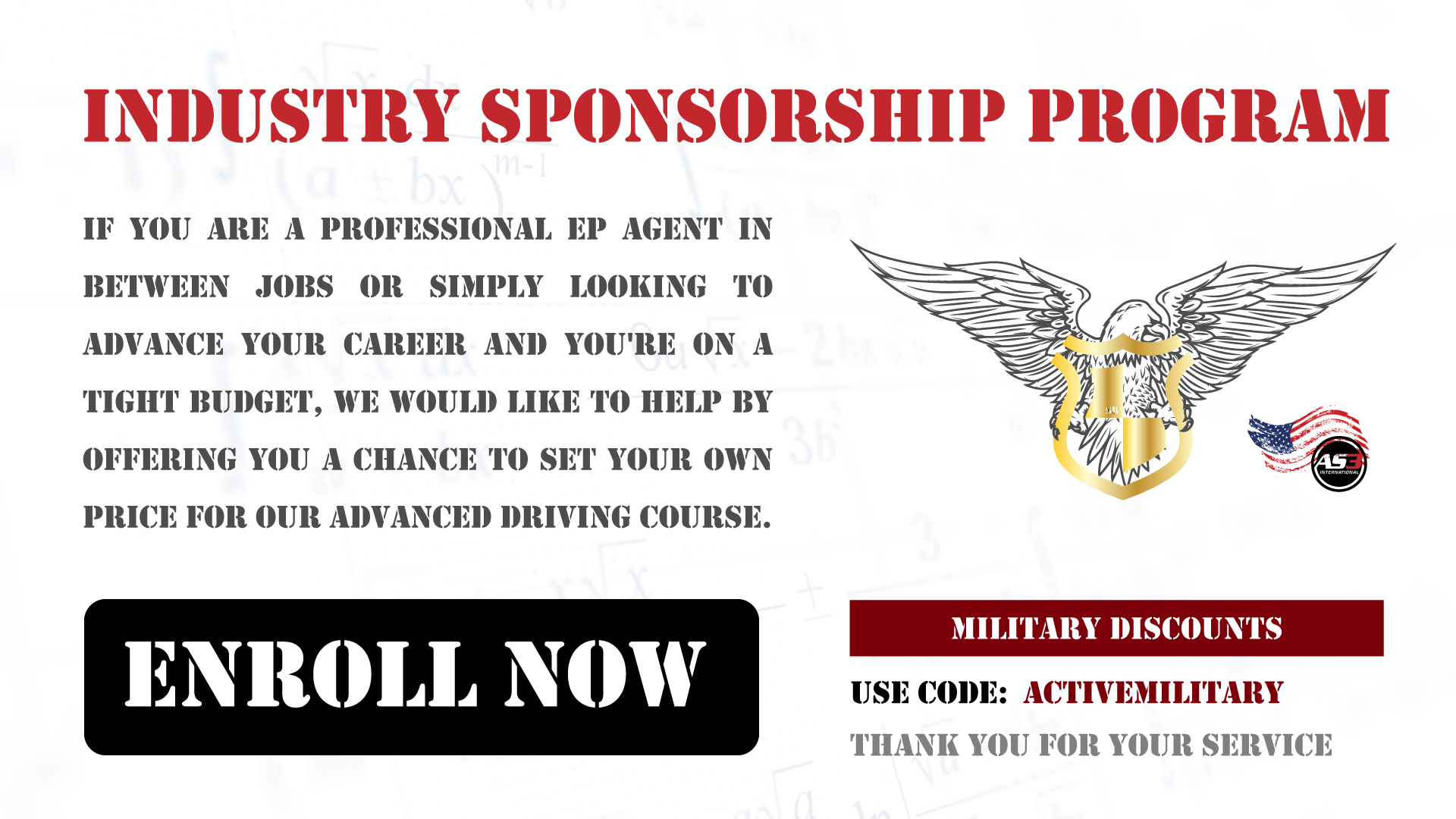 Industry Sponsorship Program - we want to show our s